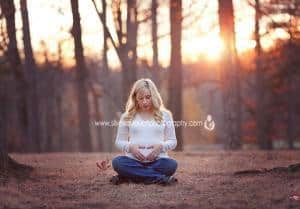 Maternity Photography NJ in an outdoor sunset location